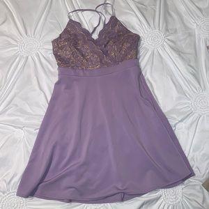 Francesca's Lilac Nude Lace Dress L